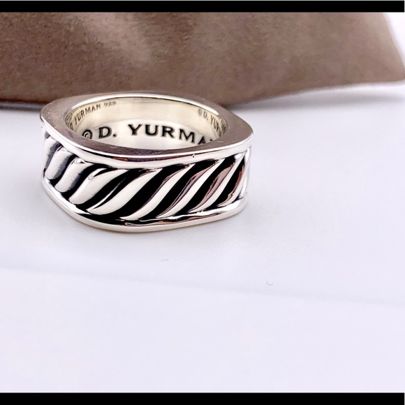 David Yurman Other - David Yurman Men Narrow Sculpted Square Ring